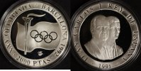 2000 Pesetas 1991 Spanien Olympia '92 Barcelona PP*  22,00 EUR