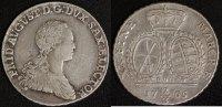 2/3 Taler 1765 Sachsen Friedrich August III. ss  75,00 EUR