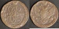 5 Kopeken 1790 EM Russland Katharina II. -St. Petersburg  s-ss, Rf.  30,00 EUR