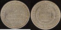 1/6 Taler 1836 Hessen-Kassel Wilhelm II. f.ss  25,00 EUR