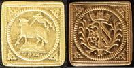 1/4 Dukatenklippe Lamm o.J.(1700) Nürnberg Georg Friedrich Nürnberger, ... 400,00 EUR