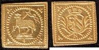 1/8 Dukatenklippe Lamm o.J.(1700) Nürnberg  vz-st  300,00 EUR