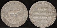 A-Taler 1855 Anhalt-Bernburg Alexander Carl vz  150,00 EUR