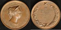 Bronze-Medaille 1854 Sachsen/Russland Nikolaus I. vz  220,00 EUR