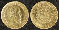 5 Mark 1877 Deutschland Württemberg 5 Mark 1877 ss, Henkelspur  200,00 EUR  +  10,00 EUR shipping