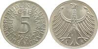 5 DM 1961 F  1961F stgl stgl  195,00 EUR  +  10,00 EUR shipping