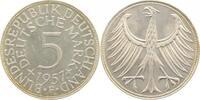 1957 F  5 DM 1957F bfr/stgl bfr  /  stgl  175,00 EUR  +  10,00 EUR shipping