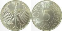 5 DM 1961 J  1961J stgl EA / bfr. stgl !!! stgl  265,00 EUR  +  10,00 EUR shipping