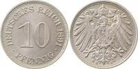 1891 E  10 Pfennig 1891E prfr/prfr/stgl!!   145,00 EUR