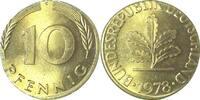 10 Pfennig 78F auf 5 Pfennig Ronde bfr/st bfr  /  st  158,00 EUR
