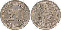 1887 F  20Pfennig 1887F f.prfr !! f.prfr  120,00 EUR  +  8,50 EUR shipping
