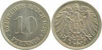 1899 D  10 Pfennig 1899D prfr/stgl prfr  /  stgl  110,00 EUR