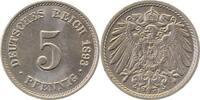 5 Pfennig 1893 E  1893E prfr/stl !!!   120,00 EUR  +  8,50 EUR shipping