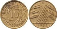 10 Pfennig 1931 G  1931G ss+ ss+  295,00 EUR  +  10,00 EUR shipping