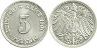 5 Pfennig 1901 G  1901G prfr/stgl !!! prfr  /  stgl  170,00 EUR  +  10,00 EUR shipping