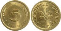 1971 J  5 Pfennig 1971J ungestaucht und ohne Ring geprägt !!!   185,00 EUR