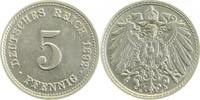 5 Pfennig 1892 D  1892D vz/stgl !!! vz  /  stgl  74,00 EUR incl. BTW., plus 10,00 EUR verzending