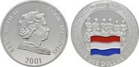 1 Dollar 2001. COOK ISLANDS Elizabeth II. seit 1952. Polierte Platte.  15,00 EUR  +  6,70 EUR shipping