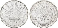 MEXIKO 1 Peso Republik, 1867-1905.