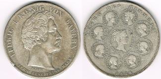 Geschichtstaler (1 Taler) 1828 Altdeutschl...
