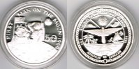 "Marshallinseln 50 Dollars Marshall Islands, silver coin ""Neil Armstrong - first man on the moon"""