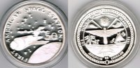 "Marshallinseln 50 Dollars Marshall Islands, silver coin ""first american space station - skylab"","