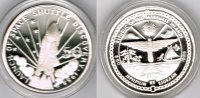 "Marshallinseln 50 Dollars Marshall Islands, silver coin ""U. S. Space Shuttle Discovery 1988"", pr"