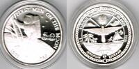 "Marshallinseln 50 Dollars Marshall Islands, silver coin ""20th anniversary - First man on the moon&quo"