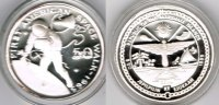"Marshallinseln 50 Dollars Marshall Islands, silver coin ""first american space walk 1965"", proof"