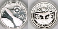 "Marshallinseln 50 Dollars Marshall Islands, silver coin ""first docking in space 1966"", proof"