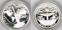 "Marshallinseln 50 Dollars Marshall Islands, silver coin ""first man in space 1961"", proof"