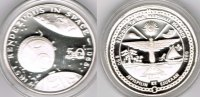 "Marshallinseln 50 Dollars Marshall Islands, silver coin ""first rendezvous in space 1965"", proof"