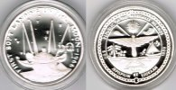 "Marshallinseln 50 Dollars Marshall Islands, silver coin ""first soft landing on the moon 1966"", p"