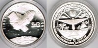"Marshallinseln 50 Dollars Marshall Islands, silver coin ""first probe of venus 1967"", proof"