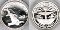 "Marshallinseln 50 Dollars Marshall Islands, silver coin ""First space station crew 1971"", proof"