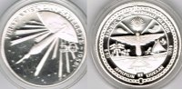 "Marshallinseln 50 Dollars Marshall Islands, silver coin ""First american satellite 1958"", proof"