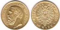Deutsches Kaiserreich 10 Mark Baden, 10 Mark 1876, Friedrich, 900er Gold, 3,58 g Feingewicht, siehe Scan
