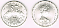 2 Dollars 1973 Bahamas Bahamas, silver coin 2 Dollars 1973 Flamingos, s... 22,00 EUR  +  9,00 EUR shipping