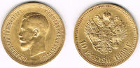 10 Rubel 1899 Russland Russia, 10 Roubles gold, Nikolaus II., year 1899... 369,00 EUR  +  11,00 EUR shipping