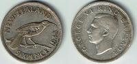 6 Pence (Sixpence) 1945 Neuseeland New Zeeland 1945, 6 Pence (Sixpence)... 7,00 EUR  +  7,00 EUR shipping