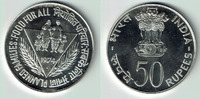 50 Rupien 1974 Indien Silver coin FAO - Food for all - family with grai... 25,00 EUR  +  9,00 EUR shipping