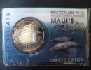 5 Dollars 2010 Neuseeland new zealand commemorative coin, Maui's dolphi... 25,00 EUR  +  9,00 EUR shipping