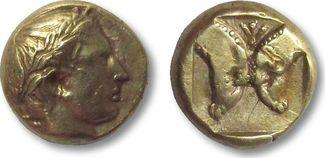 EL Hekte 454-427 B.C. ANCIENT GREECE Lesbos, Mytilene VF+