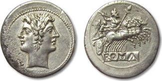 AR quadrigatus / didrachm 225-212 B.C. ROM...