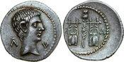 AR Drachm 27 BC v. Chr. Provincial AUGUSTU...