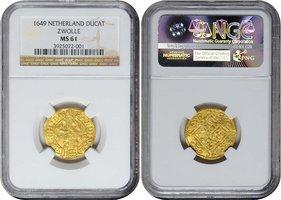 1649 Overijssel ZWOLLE, Ducat, 1649 GOLD ...