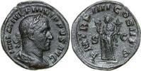Æ Sestertius 247 AD Imperial PHILIPPUS I, Rome/FELICITAS vz-  180,00 EUR  +  12,00 EUR shipping