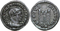 AR ½ Argenteus 307 - 308 AD Imperial CONSTANTINUS I, Trier/CAMPGATE vz  1750,00 EUR free shipping