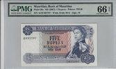 5 Rupees  Mauritius MAURITIUS P.30c -  ND1967 PMG 66 EPQ PMG Graded 66 ... 100,00 EUR  +  12,00 EUR shipping