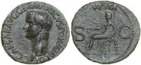 Roman Imperial  37-41 AD gVF CALIGULA, &AElig;-AS, Rome/VESTA 350,00 EUR 
